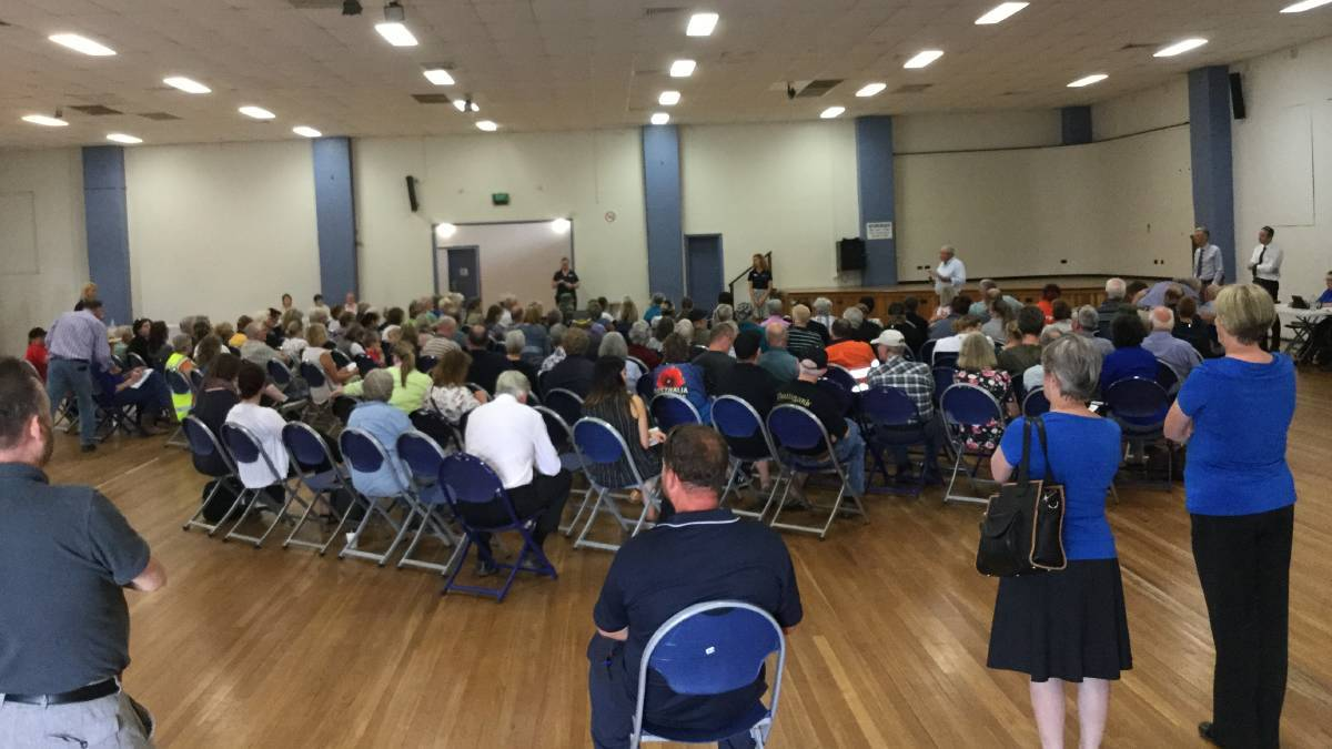 RECOVERY: A bushfire recovery meeting earlier this year at the Civic Ballroom. Photo: SUPPLIED