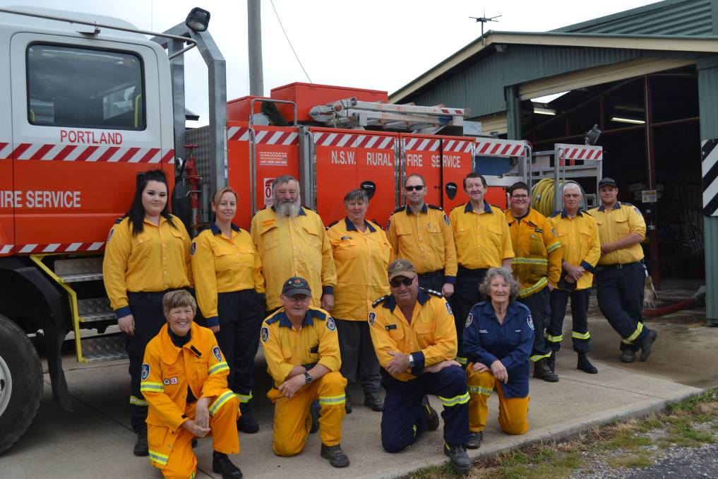 SUPPORT: Portland RFS Volunteers do their bit to help protect the community. Photo: CIARA BASTOW