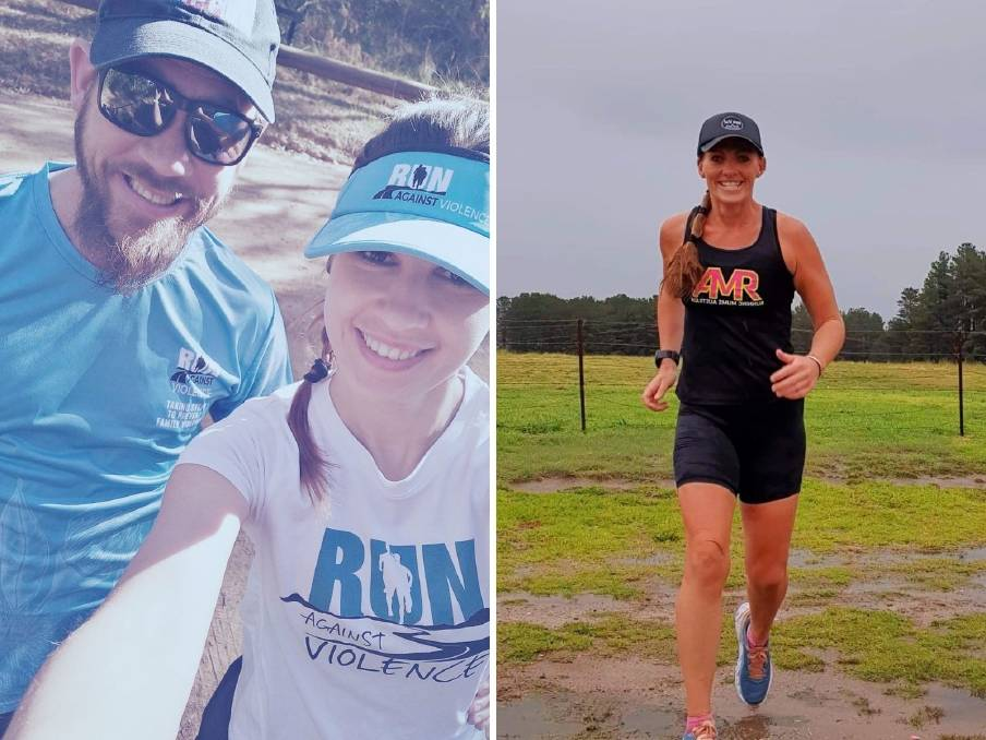 TAKING ON THE CHALLENGE: Scott Burke and Florentina Dulceanu, with Nicole Purdon taking on the challenge to raise awareness around domestic violence. Photo: SUPPLIED