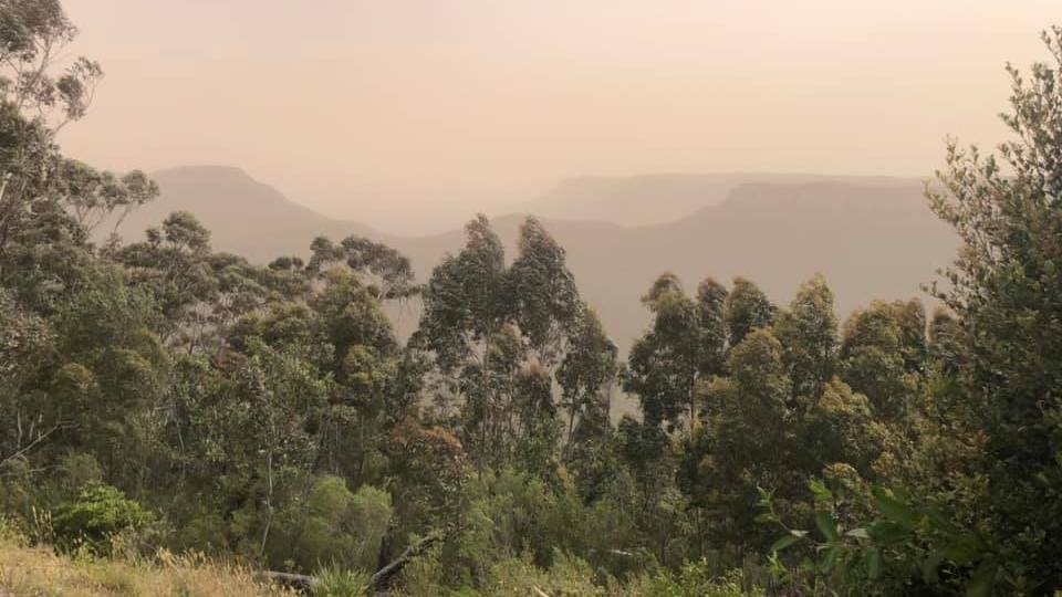 Smoky haze: Photos from Katoomba by Jude Cook earlier this year.