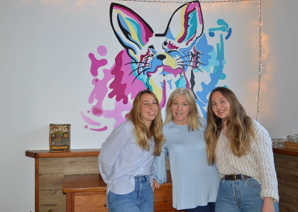 REOPENING: The Blue Fox's Holly Vatalis, Kat Alexander and Laura Vatalis are excited to reopen their family business. Photo: ALANNA TOMAZIN.